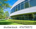 green hedge and mowed lawn... | Shutterstock . vector #476750572