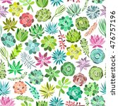 succulent plant seamless... | Shutterstock .eps vector #476757196