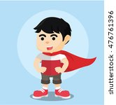 Super Boy With Cloak On His Arm