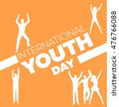 international youth day poster... | Shutterstock .eps vector #476766088