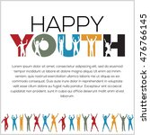 international youth day poster... | Shutterstock .eps vector #476766145