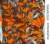 imprints meadow flowers and... | Shutterstock . vector #476769592