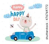 animal birthday greeting card...
