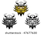 ancient angry viking warrior as ... | Shutterstock .eps vector #47677630