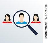 customer target and human... | Shutterstock .eps vector #476776348