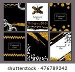 brochure template design set... | Shutterstock .eps vector #476789242