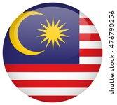 malaysia flag button | Shutterstock .eps vector #476790256