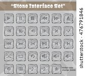 stone user interface set. ui...