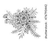 flower doodle vector  coloring... | Shutterstock .eps vector #476793442