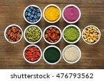 superfoods as acai powder ... | Shutterstock . vector #476793562