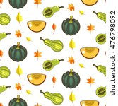 autumn harvest seamless vector... | Shutterstock .eps vector #476798092