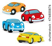 vector set. cute colorful cars.   Shutterstock .eps vector #476800876