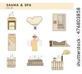 bath and sauna   set of line... | Shutterstock .eps vector #476803858