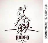 Bull Rodeo Symbol  Stylized...
