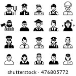 avatar and people occupations... | Shutterstock .eps vector #476805772