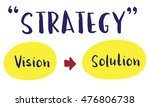 strategy success vision... | Shutterstock . vector #476806738