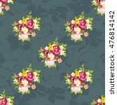 seamless floral pattern with... | Shutterstock .eps vector #476814142
