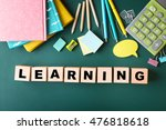 colourful stationery and word... | Shutterstock . vector #476818618