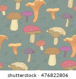 seamless pattern with mushrooms | Shutterstock .eps vector #476822806
