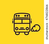 schoolbus icon. flat thin line... | Shutterstock .eps vector #476822866