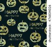 halloween seamless pattern   Shutterstock .eps vector #476834026
