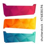 color triangular ribbon and... | Shutterstock .eps vector #476838196
