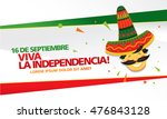 mexican translation of the... | Shutterstock .eps vector #476843128