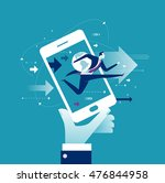 internet business. concept... | Shutterstock .eps vector #476844958