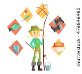 fisherman with fishing... | Shutterstock .eps vector #476846482