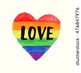 """love"" gay pride poster rainbow ... 