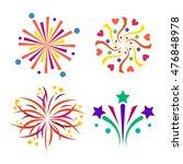 festive firework bursting shape ... | Shutterstock .eps vector #476848978