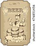 merry doodle with beer mug.... | Shutterstock .eps vector #476851456