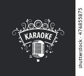 vector logo karaoke | Shutterstock .eps vector #476855875
