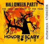 halloween party greeting card...   Shutterstock .eps vector #476860306