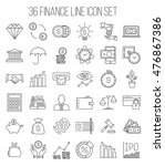 modern thin line icons set of... | Shutterstock .eps vector #476867386