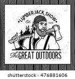 lumberjack template logo.... | Shutterstock .eps vector #476881606