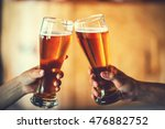 two friends toasting with... | Shutterstock . vector #476882752