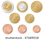 euro coins set isolated on a...