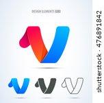abstract vector letter v logo...   Shutterstock .eps vector #476891842