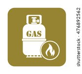 camping stove with gas bottle...   Shutterstock .eps vector #476892562