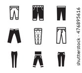 pants vector icons. simple...