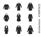 coat vector icons. simple...