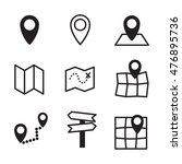 map vector icons. simple... | Shutterstock .eps vector #476895736