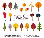 vector autumn color forest set. ... | Shutterstock .eps vector #476903362