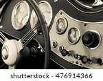 old classic car dashboard | Shutterstock . vector #476914366