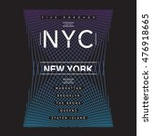new york nyc typography  t... | Shutterstock .eps vector #476918665