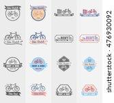 bike rentals logos  labels and... | Shutterstock .eps vector #476930092