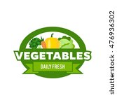 simple modern vegetable logo | Shutterstock .eps vector #476936302