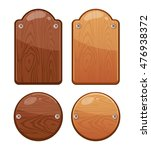 set of wooden boards with... | Shutterstock . vector #476938372