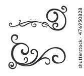calligraphic design element ... | Shutterstock .eps vector #476950828